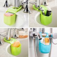 Kitchen Cutlery Sponge Button Drying Rack Drainer Dryer Dish Holder Organizer FO