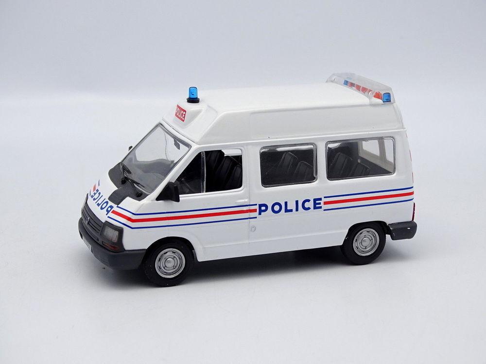 RENAULT TRAFIC 1 POLICE 1989 SURELEVE NOREV HACHETTE 1 43 NO GENDARMERIE blanc