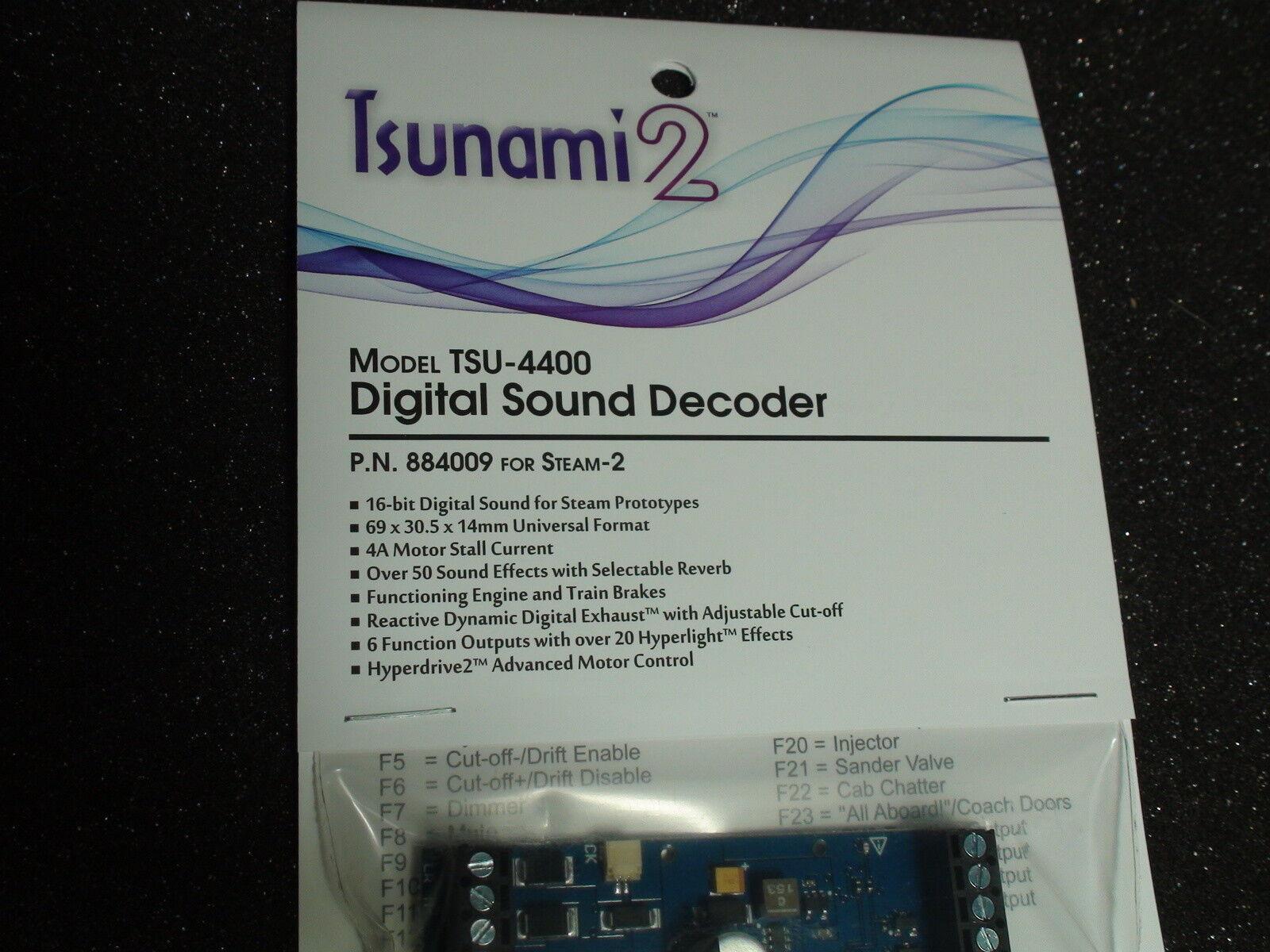 TSUNAMI 2 TSU-4400 P.N.884009 STEAM-2 DIGITAL SOUND DECODER BIGDISCOUNTTRAINS