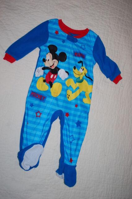 NWT Disney Store Mickey Mouse Pluto Sleeper SZ 12 18 24mo Baby Boy