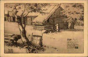 1-Weltkrieg-Feldpostkarte-034-Aus-unserem-Russen-Dorf-034-Field-Post-Card-War-I