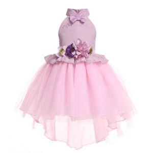Flower Girls Party Tutu Dress Wedding Bridesmaid Birthday Princess Dress ZG8