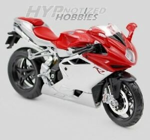 MAISTO-1-12-MOTORCYCLE-MV-AGUSTA-F4-RED-AND-SILVER-11094