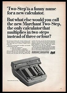 1965 Scm Corporation Marchant Two Step Calculator B Amp W Vintage Print Ad 1960s Ebay
