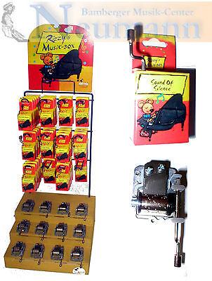 Spieluhr Spieluhren Music Box 63 Melodien Montierbar mit oder ohne Resonanzholz