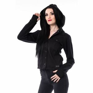 Goth Jacket Lina Punk Ladies Emo Vixxsin Black 14Inqggz