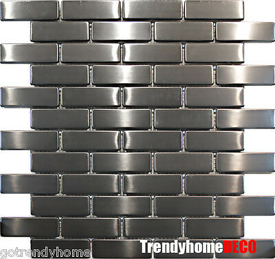 1SF- Stainless Steel Brick Subway Mosaic Tile Kitchen Backsplash Sink Wall pool