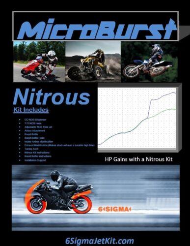 MicroBurst Yamaha YFM 250 R Raptor  NOS Nitrous Oxide Kit /& Boost Bottle