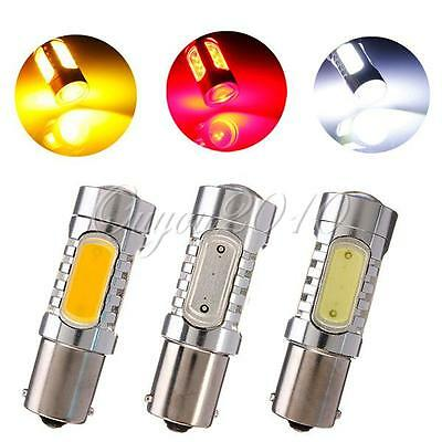 DC 10-24V 1156 BA15S Car White/Yellow/Red COB LED Turn Signal Light Bulb Lamp