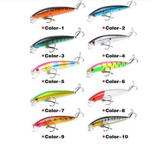 Minnow Fishing Lures Crank Bait Hooks Bass Crankbaits Tackle Swimbait Sinking