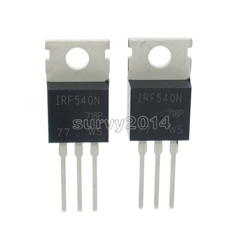 5PCS  IRF540N IRF540 TO-220 N-Channel 33A 100V Power MOSFET NEW
