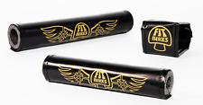 FIT BIKE CO TRIPPER PADSET BLACK GOLD 3 PIECE BMX SE BIKES OLD SCHOOL WINGS GT