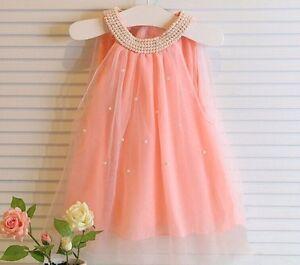 Flower-Girl-Kids-Sleeveless-Wedding-Bridesmaid-Party-Princess-Dress-Age-3-4Y-Jr3