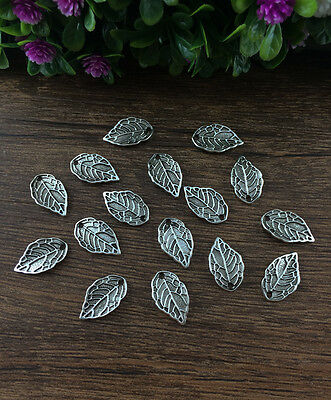 Wholesale 18pcs Tibet silver Leaves Charm Pendant beaded Jewelry Findings !!!!