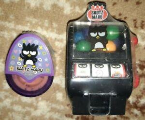 SANRIO BADTZ MARU Gumball Slot Machine & Stamp roller HELLO KITTY anime CUTE NEW