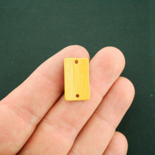 4 Ruler Connector Charms Yellow Enamel Fun and Colorful E317