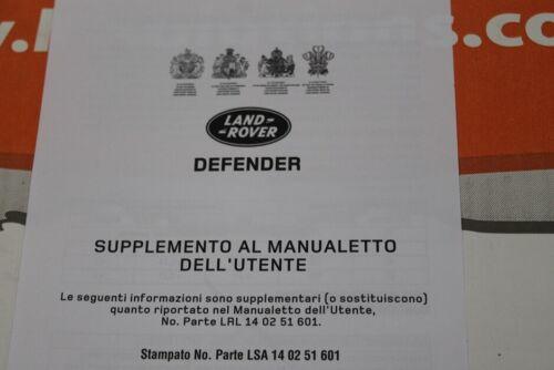w VDC502000 ITALIANA LAND ROVER DEFENDER TD5 Proprietari Manuale Servizio Portafoglio