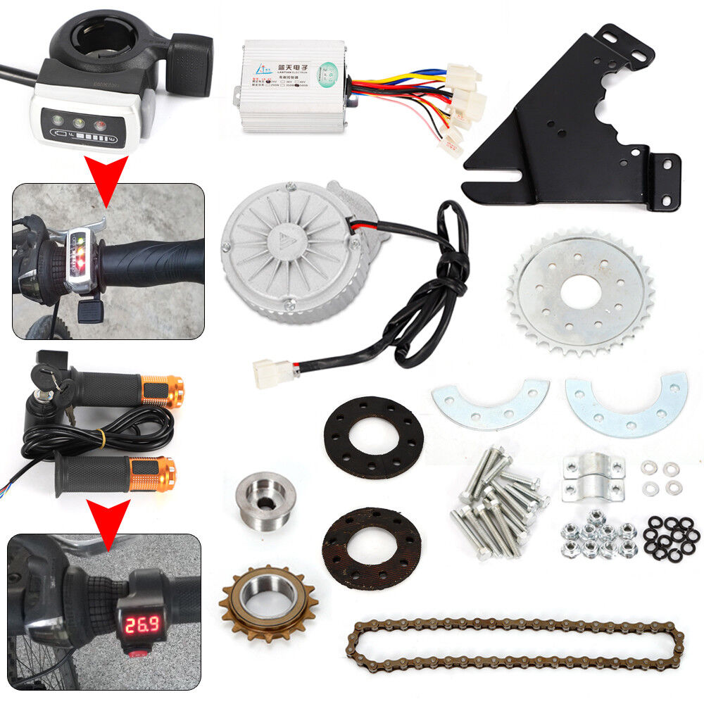 450W 36V Electric Bike Bicycle  Conversion Kit Left Drive Hub Motor Ebike Kit USA  online store