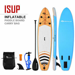 10' Inflatable Stand up Paddle Board Surfboard SUP W/ Adjustable Paddle Fin
