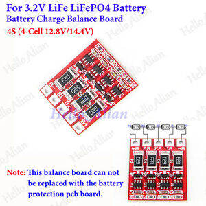 Details about 4S 12 8V 14 4V LiFePo4 LiFe Battery Charger Module Balance  Board 3 2V 4 Cell 4S