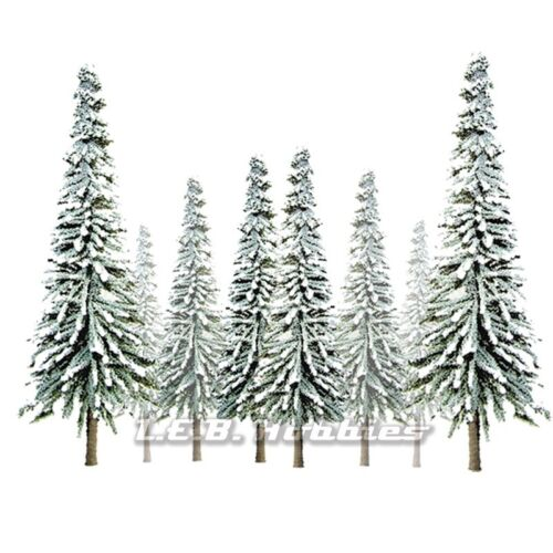 "JTT Scenery Products Snow Spruce Tree OScale 6"" 10"" Super Scenic, 12pk 92008"