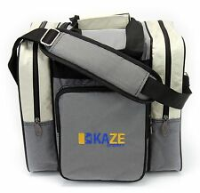 KAZE Sports Deluxe 1 Ball Bowling Tote Bag Two Side Pocket One Single Gray