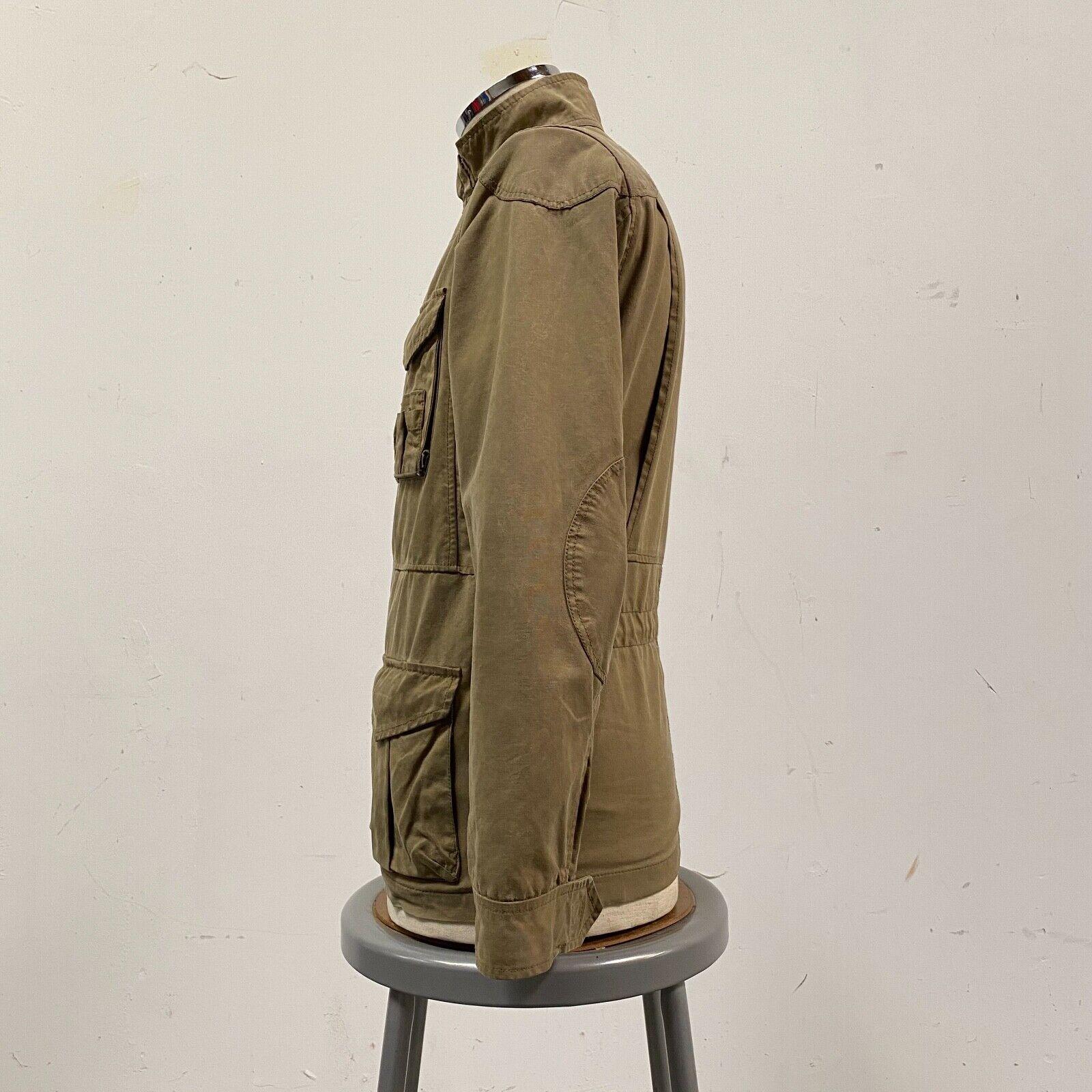 J.Crew Field Jacket Size XS Brown Wax Distressed - image 3