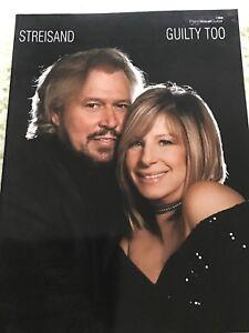 100% Vrai Coupable Trop Barry Gibb Barbra Streisand Comédies Musicales Piano Guitare Faber Music Book-afficher Le Titre D'origine Vif Et Grand Dans Le Style