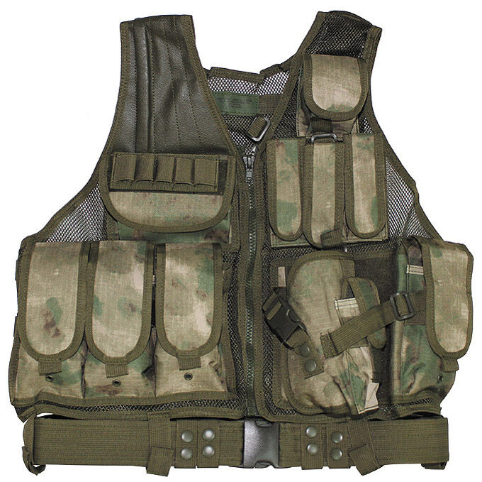 US MOLLE ARMY SWAT CROSSDRAW TACTICAL ASSAULT Weste HDT Grün Camouflage