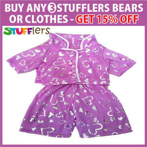 Purple-Love-PJS-Clothing-Outfit-by-Stufflers-Fits-Medium-40cm-Plush-Toy