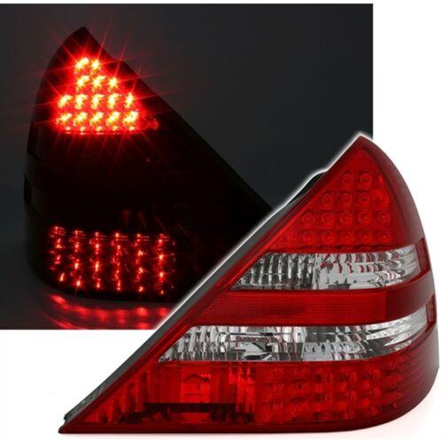 2 REAR LIGHTS MERCEDES SLK R170 DE 04//1996 A 04//2004 WHITE /& RED LED CRISTAL