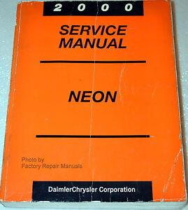 2000 dodge plymouth neon factory service manual original shop rh ebay com Dodge Neon Interior Replacement Parts Dodge Neon Interior Replacement Parts
