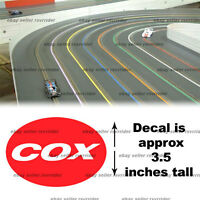 Cox Slot Car Hobby Decal Sticker