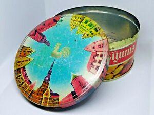 Vintage Soviet Empty Candy Tin Box - Caramel Rīgas Maisījum, USSR, Latvia 1970s