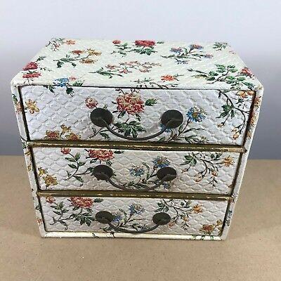 Diplomatico Shabby Chic In Stile Gioielli Storage Box/torace. Triplo Scomparto Disegna-