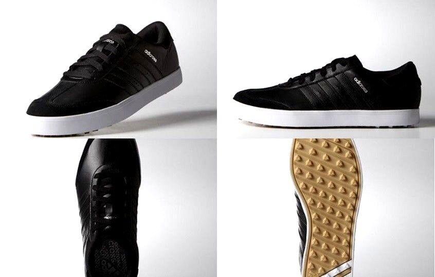 Adidas mens adicross - v spikeless leder schwarz - adicross weiße golfschuhe f333690Größe 8,5 fd75d3