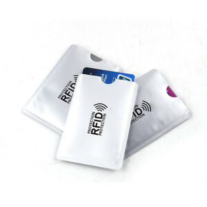b2390089c110 Details about 10 X RFID Secure Sleeve Credit ID Card Blocking Holder  Protector Passport Case