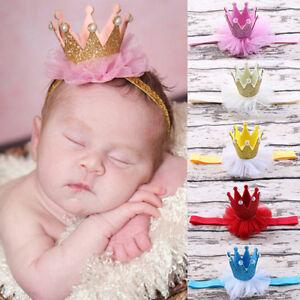 Fj-Ne-Fm-Gn-Bambino-Principessa-Regina-Perla-Finta-Tiara-Fascia-per-Capelli