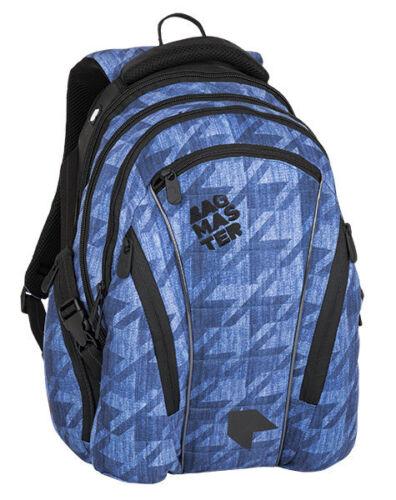 BAGMASTER groß licht Rucksack Schulrucksack Schultasche für Jugend BAG8B