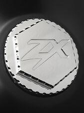 06-17 ZX14 ZX14R 04-15 ZX10R Chrome 3D Hex Engraved Gas Cap Lid w/Ball Cut Edges