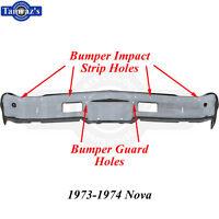 73-74 Nova Custom Triple Chrome Plated Front Bumper W/ Impact Strip Guard Holes