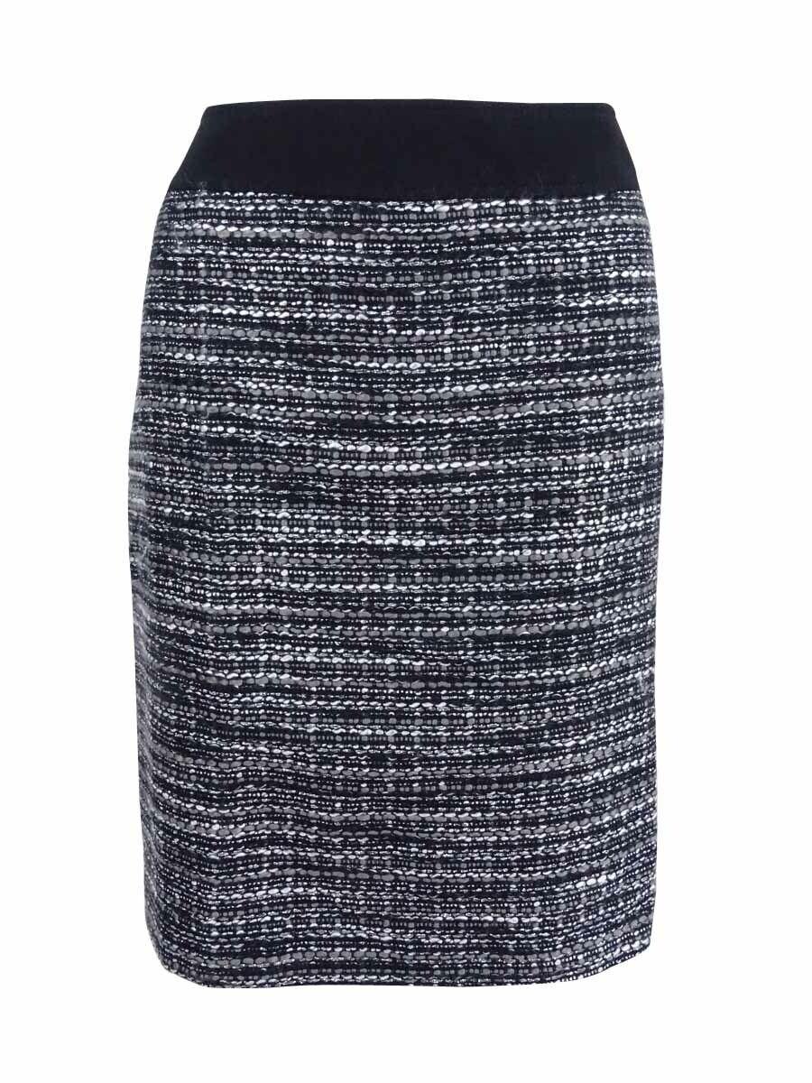 Tahari ASL Women's Metallic Boucle Pencil Skirt