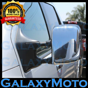 Triple-Chrome-Towing-Mirror-Cover-1-pair-for-05-15-Nissan-Armada-Titan-2005-2015