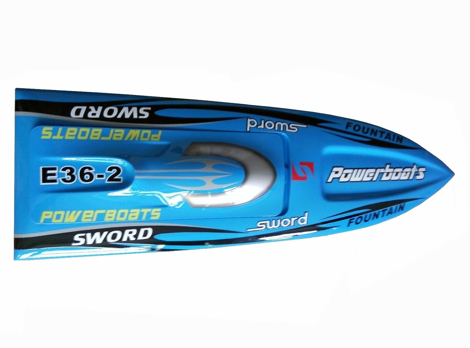 E36 Prepainted blu Electric Racing KIT RC Boat Hull Only for Advanced Player