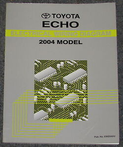 2004 toyota echo electrical wiring diagram service manual ebay rh ebay com