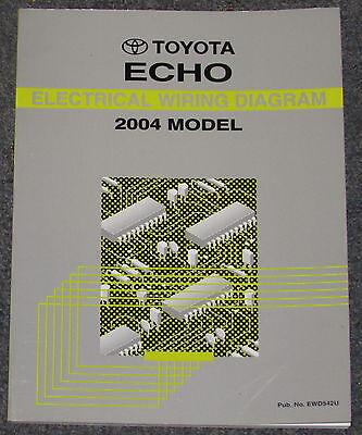 2004 toyota echo electrical wiring diagram service manual  ebay