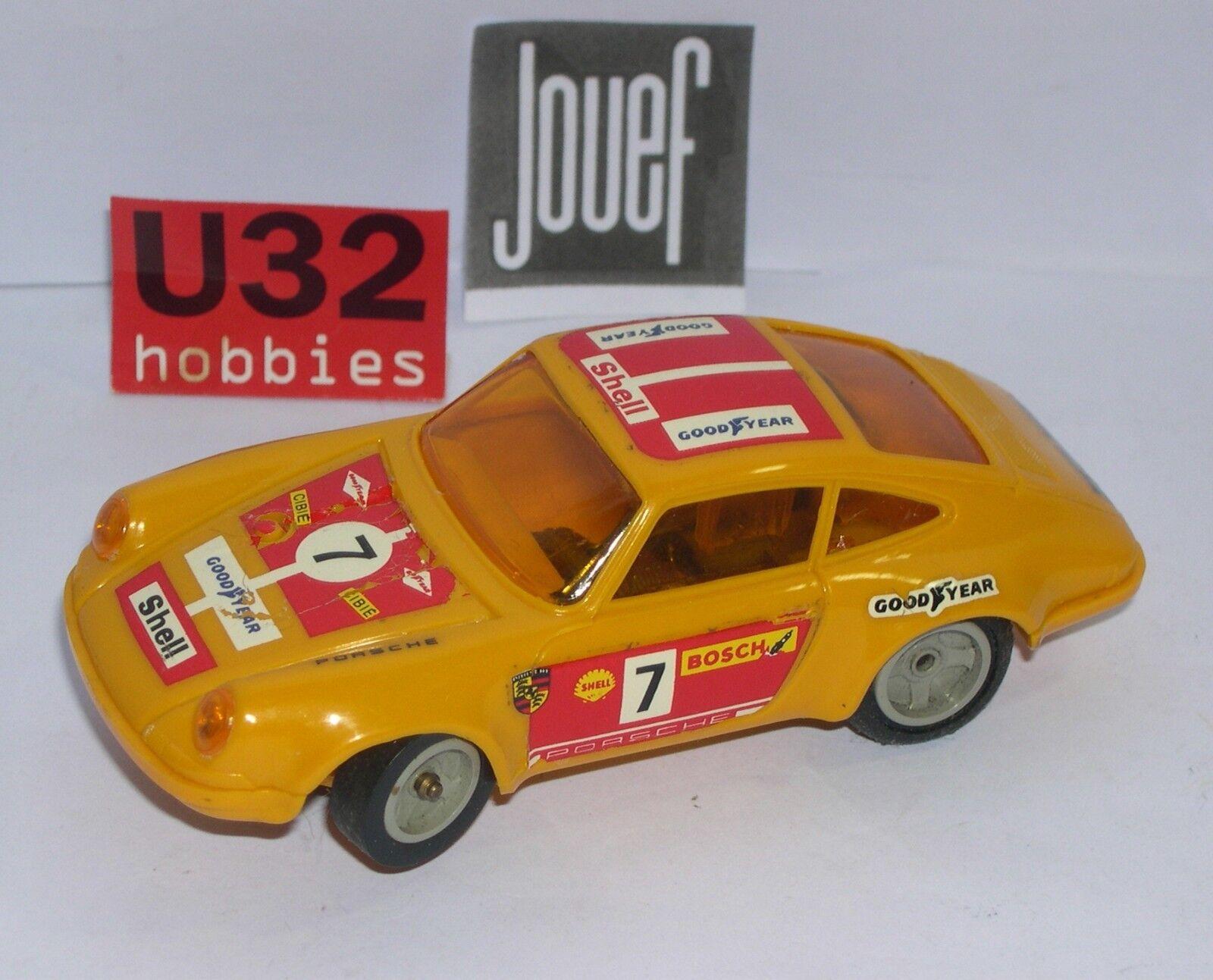 FN JOUEF 3658 SLOT CAR PORSCHE 911 S  7 arancia VERY GOOD CONDIZIONE UNBOXED