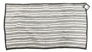New-Threshold-King-Size-Pillow-Sham-Grey-White-Knit-Quilted-Pattern-20-034-x-36-034