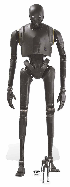 K-2SO Droid Rogue One  A Star Wars Story LifeGröße and Mini Cardboard Cutout