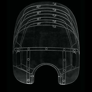 Memphis Shades Windshield Sizing Template 9001-0001